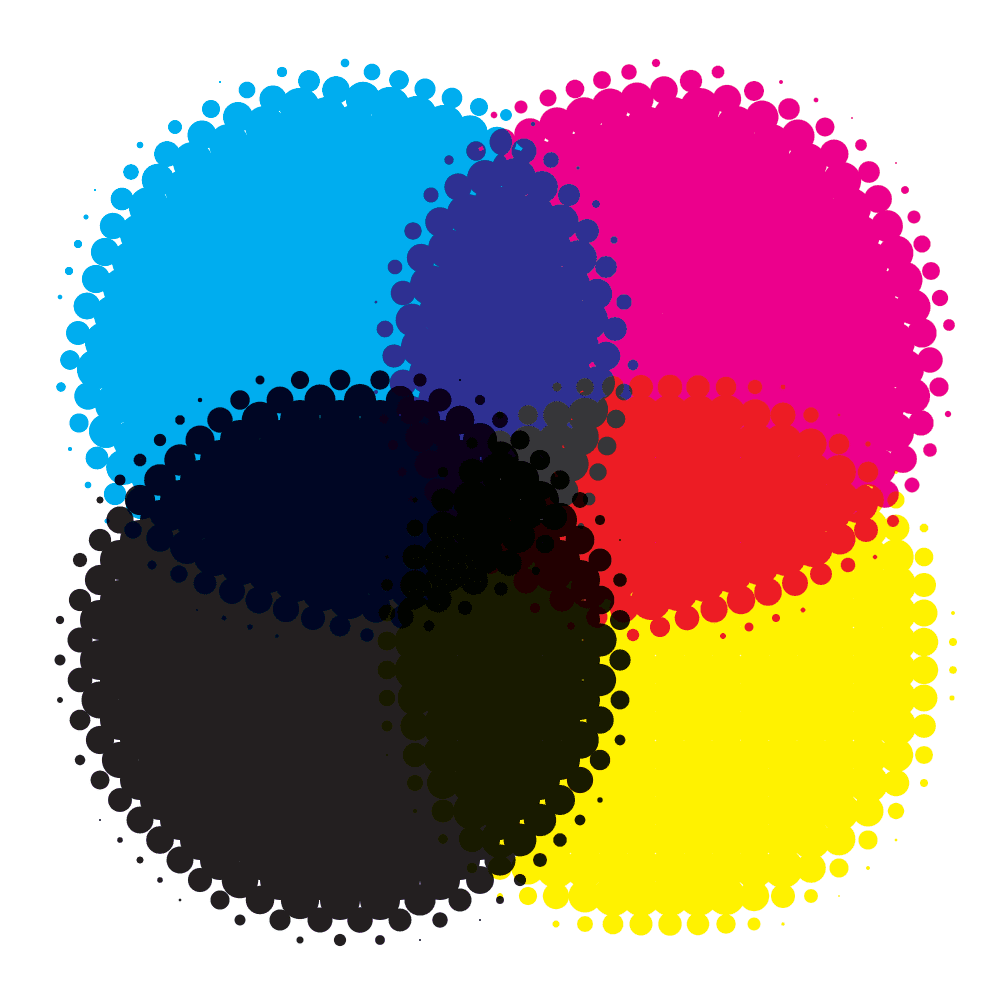 CMYK colour system illustration